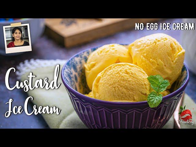 Custard Ice Cream Recipe | മിക്സിയിലും ഐസ്ക്രീം | Ice Cream Recipe Malayalam | Eggless Ice Cream