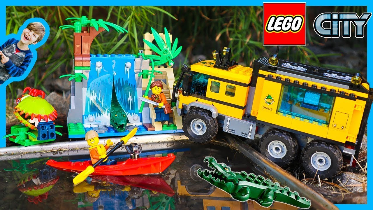 Lego City Jungle Explorers Mobil Lab Truck Youtube