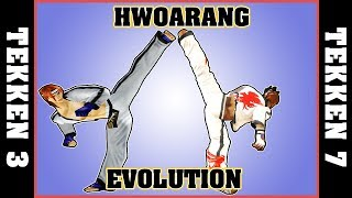 HWOARANG evolution + all endings [Tekken 3 - Tekken 7]