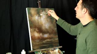 Tim Gagnon Acrylic Painting Quick Tip - Using Gel Medium for Clouds