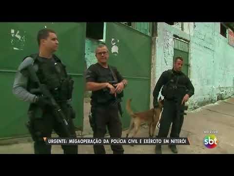 URGENTE: megaoperação da Polícia Civil e Exército em Niterói