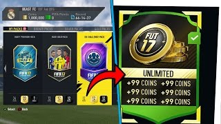 fifa 17   get 45k packs for 10k new unlimited coins glitch