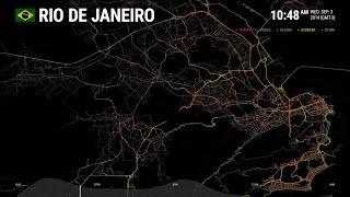 Data Visualization - Rio de Janeiro: One Day on Waze | Waze