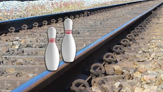 Train Vs Bowling Pin Test
