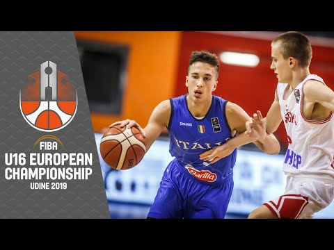 Croatia v Italy - Full Game - FIBA U16 European Championship 2019