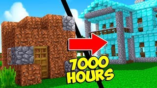 IT TOOK 7,000 HOURS TO BUILD THIS WORLD... (Minecraft Hide and Seek!)