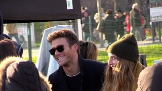 EXCLUSIVE: Scott Eastwood and other actors shooting set of the Overdrive film in Paris