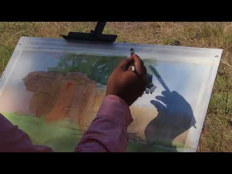 watercolour landscape painting demo | Hemant magarade