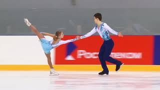 Первенство России в парном катании танц Парное катание KMC Произвольная программа 10 А МУХОРТОВА