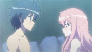 Louise & Saito moments romantiques kiss scènes VOSTFR ~ Zero no Tsukaima