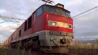 [HD] 3098レ EF510-17牽引貨物 月岡駅発車