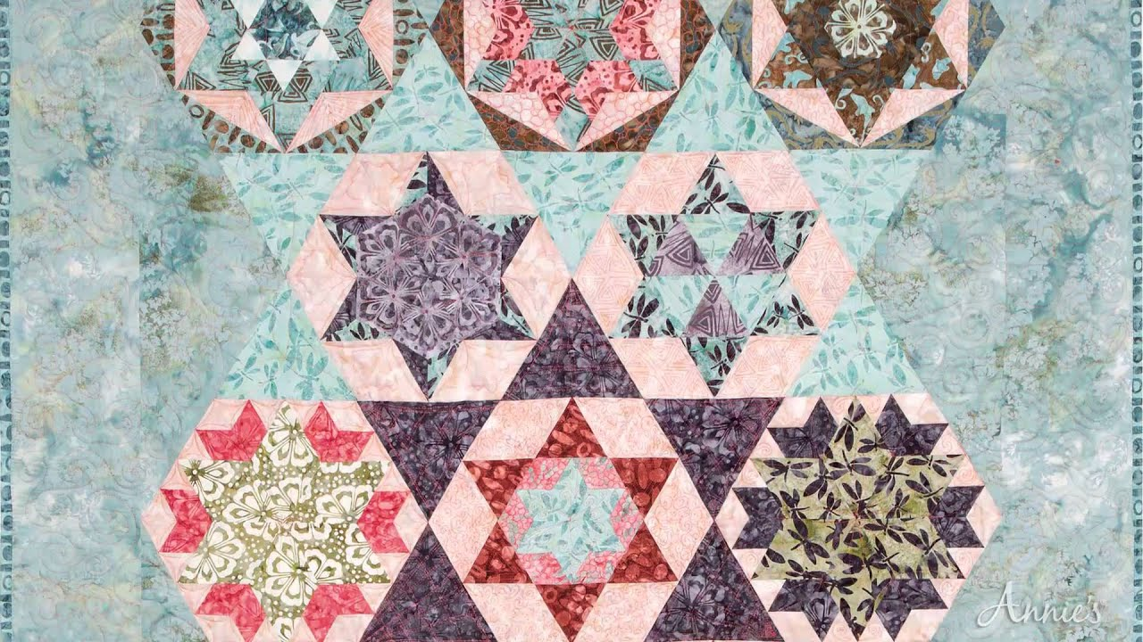Learn to Quilt With 60-Degree Rulers - an Annie's Video Class ... : 60 degree ruler quilting - Adamdwight.com