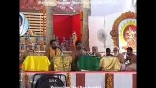 Malliyoor Bhagavathamrutha Sathram 2014 Venmani Krishnan Namboothiri-Vaikom Unni