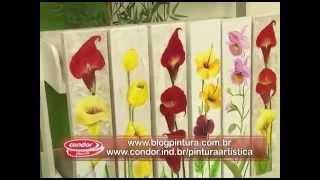 Pintura Floral em Painel com Textura – Daniel Mariano