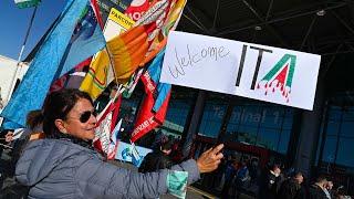 Fiumicino: proteste degli ex-dipendenti Alitalia
