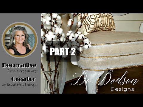 Painting Upholstery Fabric On Furniture, Part 2