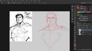 Sketch en Photoshop / Jim Lee Superman