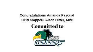 "Amanda Pascual 2019 5'3"" Slapper/Switch Hitter, MI/Outfield Skills and Recruiting Video"