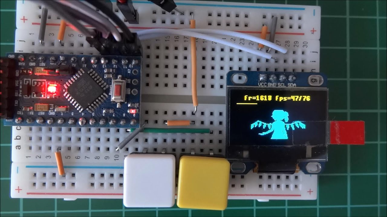 Touhou project bad apple arduino oled display version