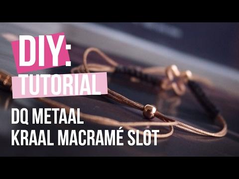 Sieraden maken: Stoer armbandje met macramé slot van DQ metaal ♡ DIY