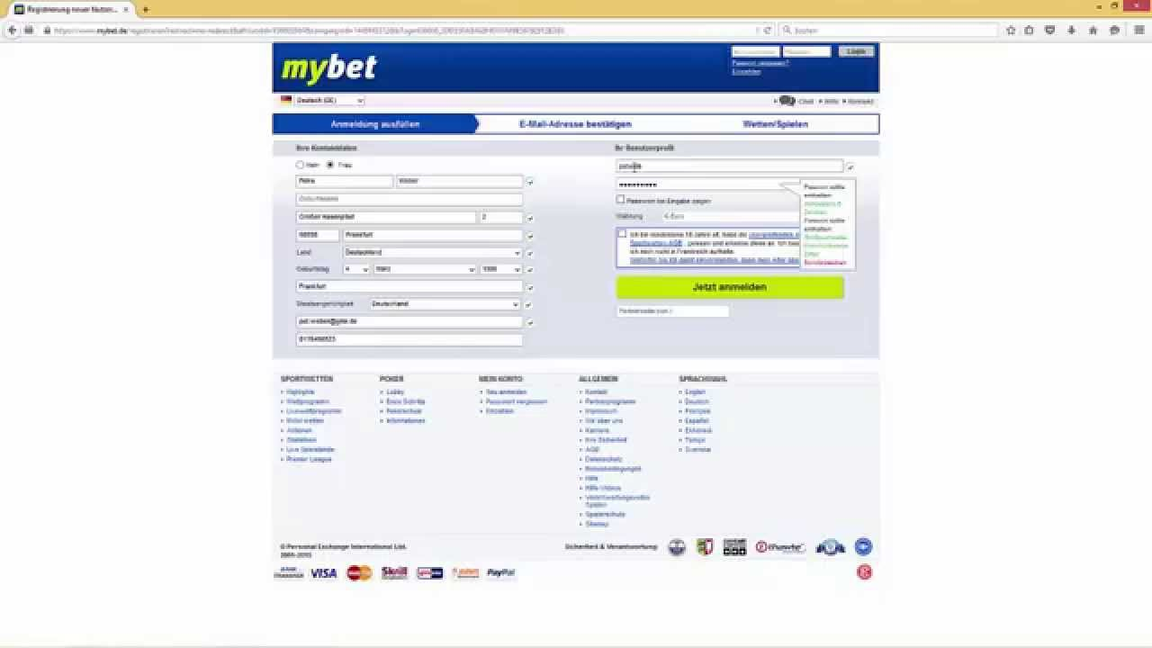 mybet test