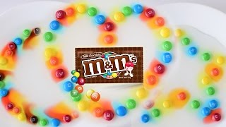 M&M Candy Experiment Art DIY★ Like SKITTLES Rainbow ★ Circle ★ Heart ★ Star Make Your Own ★