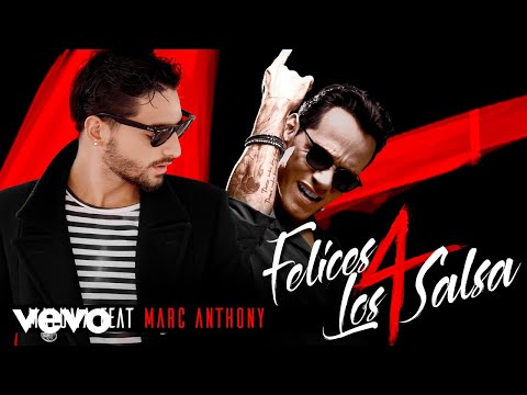 Maluma  Felices los 4 Salsa VersionAudio ft Marc Anthony