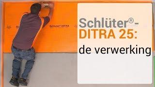 Schlüter-DITRA 25: de verwerking