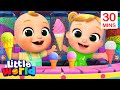 Ice Cream Song With Nina And Nico + More Kids Songs & Nursery Rhymes by Little World