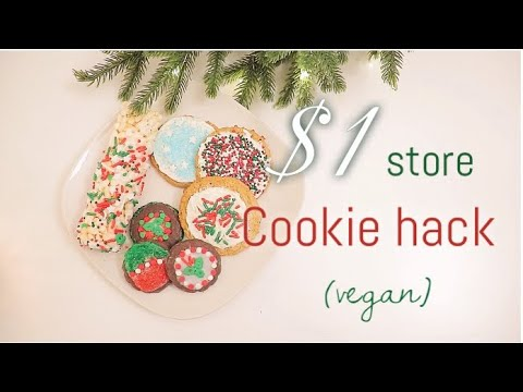 THE EASIEST $1 HOLIDAY COOKIES  | NO BAKING REQUIRED/ VEGAN AND CHEAP |