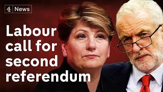 Labour back second referendum - and peers resign whip over 'anti-semitism'
