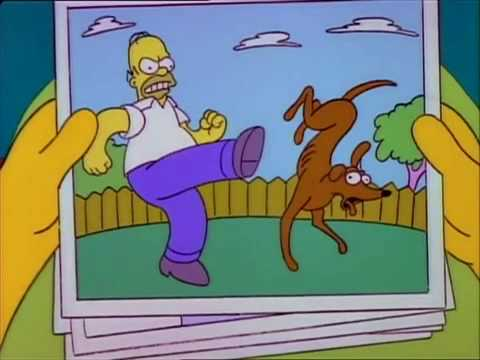 The Simpsons - Lost Dog Photo