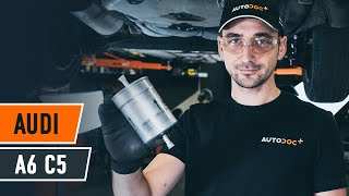 Deflection / Guide Pulley, timing belt installation AUDI A6: video manual