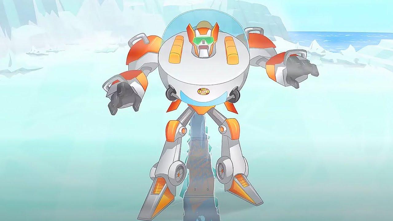 O estranho iceberg | Rescue Bots | desenho animado infantil | Transformers para crianças