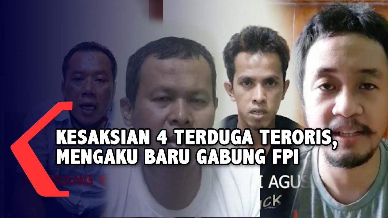 Download Kesaksian 4 Terduga Teroris, Semua Mengaku Baru Bergabung dengan FPI