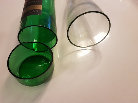 Make Yourself a Lamp with Glass Bottles