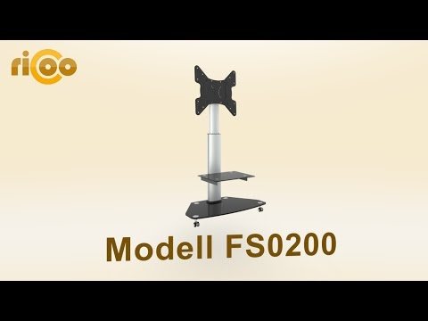 ricoo®-|-fs0200-|-tv-stand-|-möbel-rack-|-neigbar,-schwenkbar,-drehbar,-höhenverstellbar,-rollen