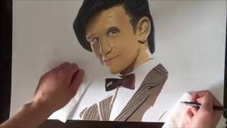 Speed drawing Matt Smith / 11th Doctor ( Doctor Who )
