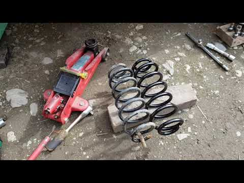 Audi A3 8p Rear Coil Spring Replacement – Broken – Cracked – DIY Repair Fix