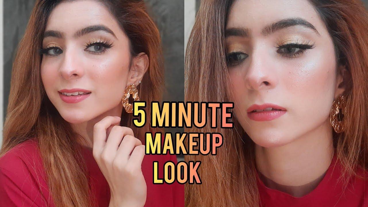 Quick & Easy 5 Minute Makeup Look ~ Maham Pasha - YouTube