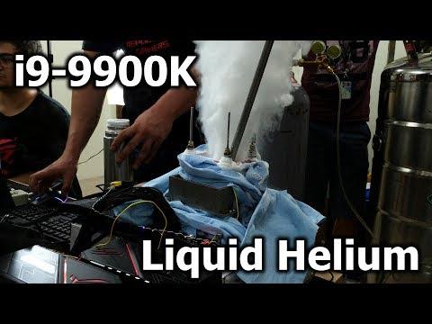 World Record with i9-9900K at -230 °C - LIQUID HELIUM