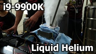 World Record with i9-9900K at -230 °C - LIQUID HELIUM
