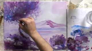 Как рисовать акрилом.Вечерний пейзаж.(Научится рисовать акриловыми красками. Новый урок живописи художника Александра Жиляева открывает для..., 2014-10-15T07:17:06.000Z)
