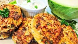 Капустные Котлеты.  Секрет приготовления вкусных котлет.  Cabbage Сutlets