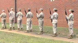 Military funeral honors detail practice