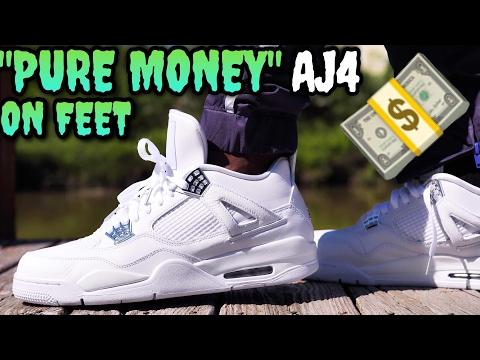 PURE MONEY AIR JORDAN 4 ON FEET REVIEW! THE BEST AIR JORDAN FOR THE SUMMER!
