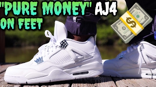PURE MONEY AIR JORDAN 4 ON FEET REVIEW! THE BEST AIR JORDAN FOR THE SUMMER!
