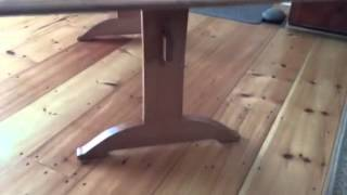 Handmade Boat Shaped Cherry Shaker Trestle Table