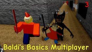 Juega con Bendy siendo el asistente de Baldi - Baldi's Basics Multiplayer n.o 03 (Mapa de Roblox)