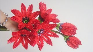 3D Origami  Flower V12 Tutorial | DIY Paper Flower Home Decoration